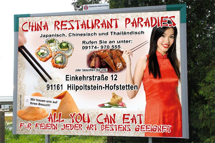 18/1 Plakat China Restaurant Hilpoltstein / Nürnberger Land