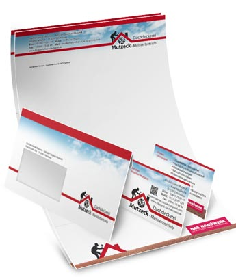 Briefpapier Mit Passenden Visitenkarten Briefbogen