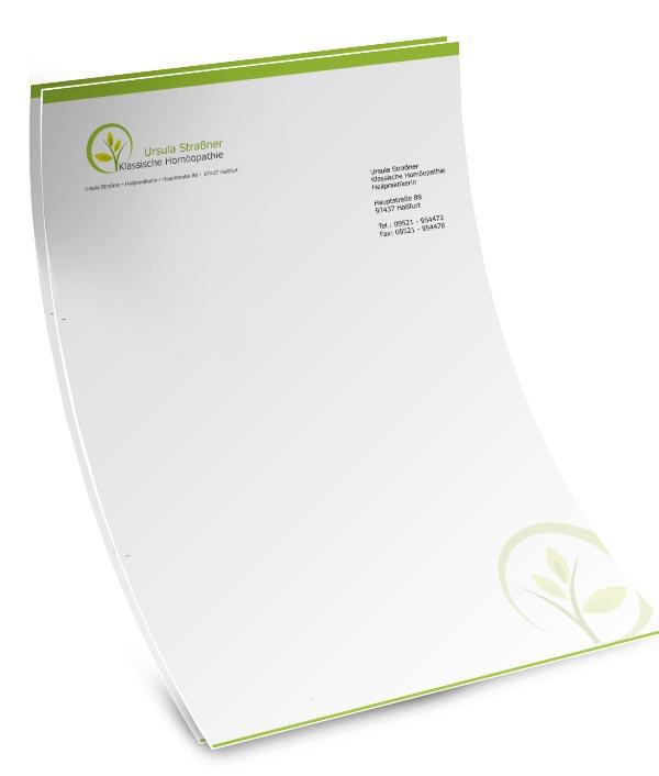 Briefpapier Gestalten : Briefpapier mit passenden visitenkarten briefbogen