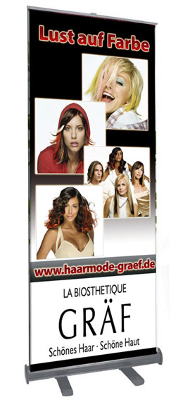 Roll Up Display Haarmode Gräf Hofheim