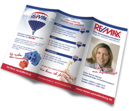 Flyerdesign Remax Aschaffenburg
