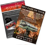 Flyergestaltung DIN A6 SKY Coverband