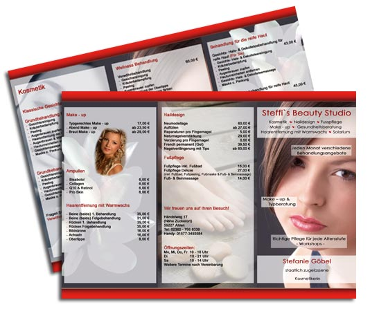 Kosmetik Flyer Design - Kosmetik Handzettel Erstellen inkl. Druck