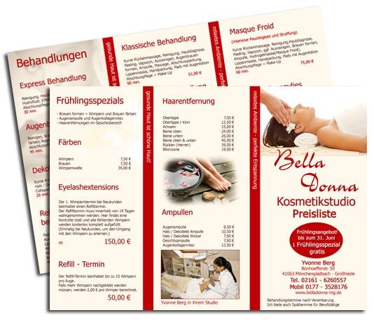 dd76ab379ff507 Kosmetik Flyer Design - Kosmetik Handzettel Erstellen inkl. Druck