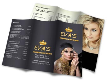 Kosmetik Flyer Evas Kosmetik Body Studio Waldsassen