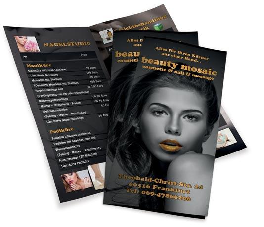 Kosmetik Flyer Design Kosmetik Handzettel Erstellen Inkl Druck