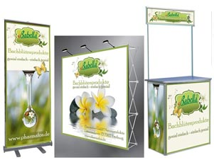 Roll Up, Pop Up Display, Promotion Theke