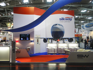 Messestands Silkway Airlines