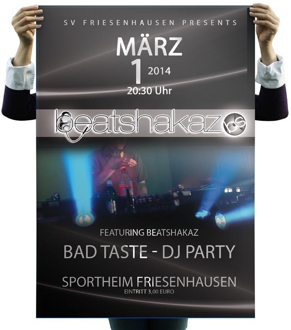 Plakat Poster DJ Party Bad Taste