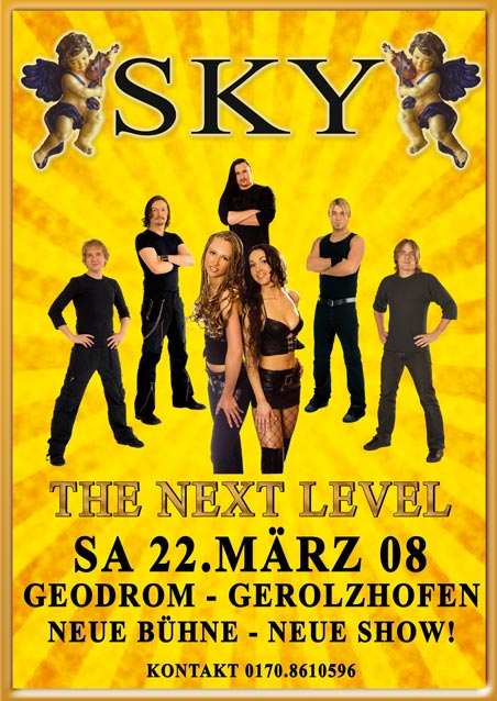 Plakat Poster Coverband Sky