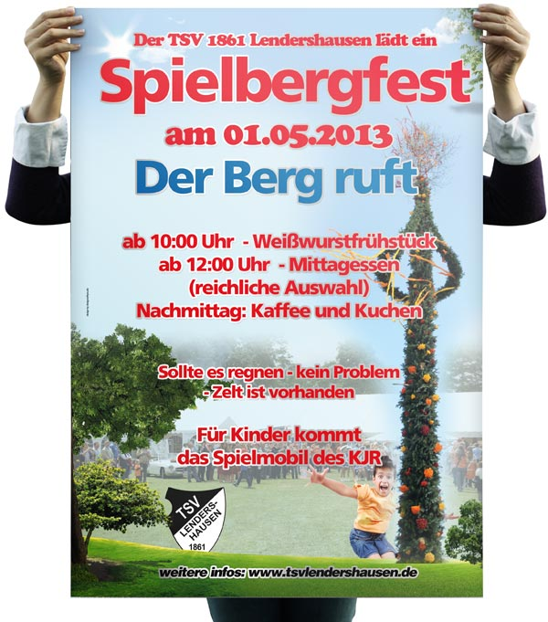 Plakat Poster Maifest Turnverein