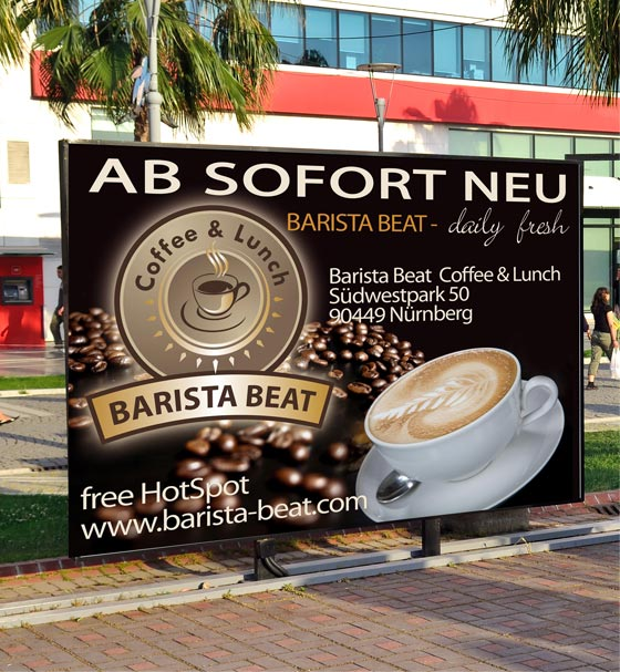 18/1 Plakat Barista Beat Coffee & Lunch in Nürnberg