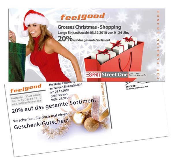 Postkarte Feelgood - Junge Mode Hofheim