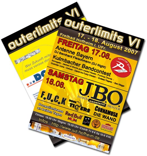 Flyer Outerlimits Open Air
