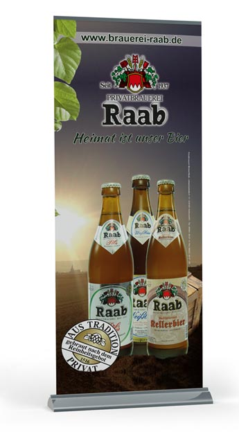 Roll-Up Display Brauerei Raab