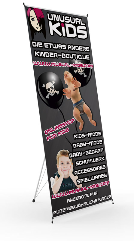 Roll Up Display Kinder Boutique Zossen