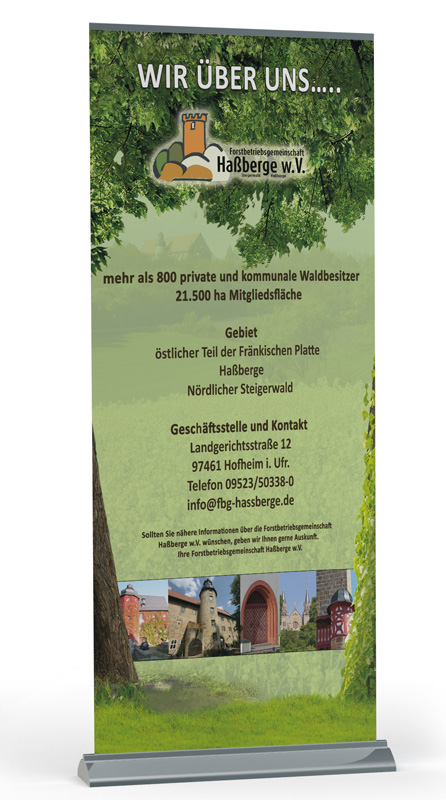 Roll Up Display Forstbetriebsgemeinschaft Haßberge w.V.