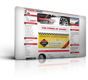 Webdesign CMS und Online Shop Profil Center