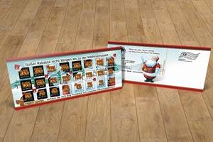 Postkarte Weihnachtskarte Schuh- und Modegeschäft