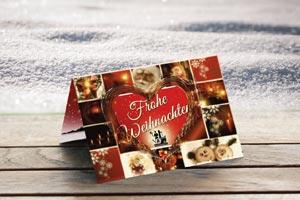 Weihnachtskarte Aoptheke Gartenstadt Schweinfurt