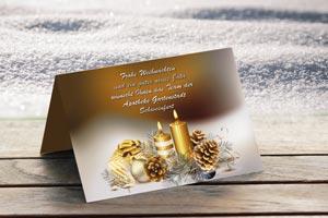 Weihnachtskarte Apotheke Schweinfurt