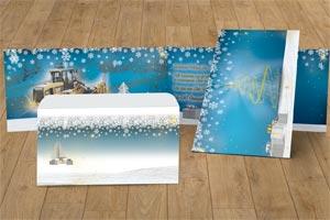 Weihnachtskarte Caterpillar Financial Services